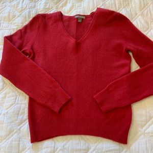Apt 9 Red Cashmere V Neck Sweater Small S